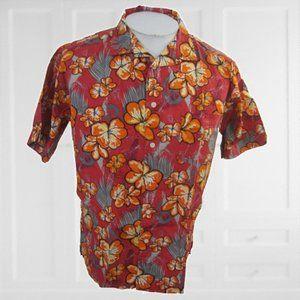 PT Sports vintage Men Hawaiian camp shirt M floral